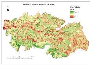 Índice de Idoneididad de Hábitat para conejo en la provincia de Toledo