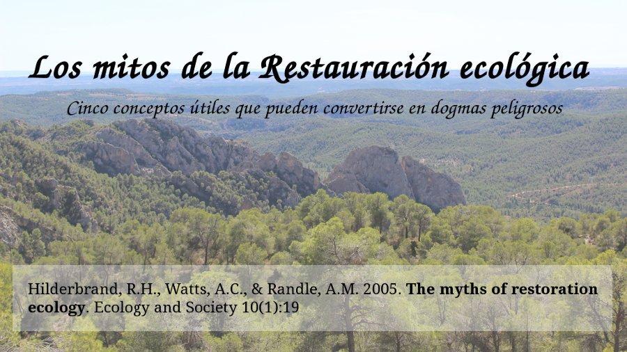 Mitos de la restauración ecológica sobre hoces del río Cabriel