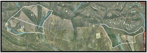 Localización de las zonas de actuación del proyecto LIFE Iberlince en Cabañeros para la recuperación del conejo de monte.