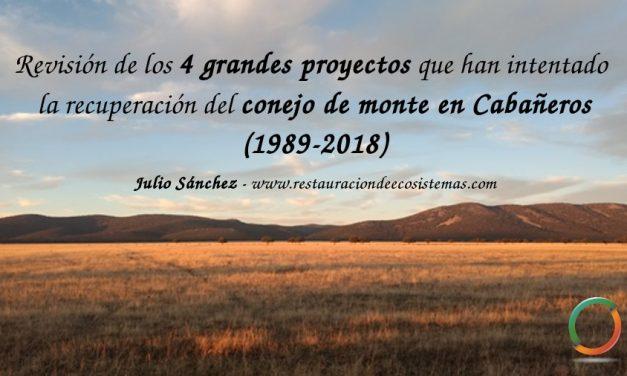 30 años y 4 proyectos para la recuperación del conejo en Cabañeros