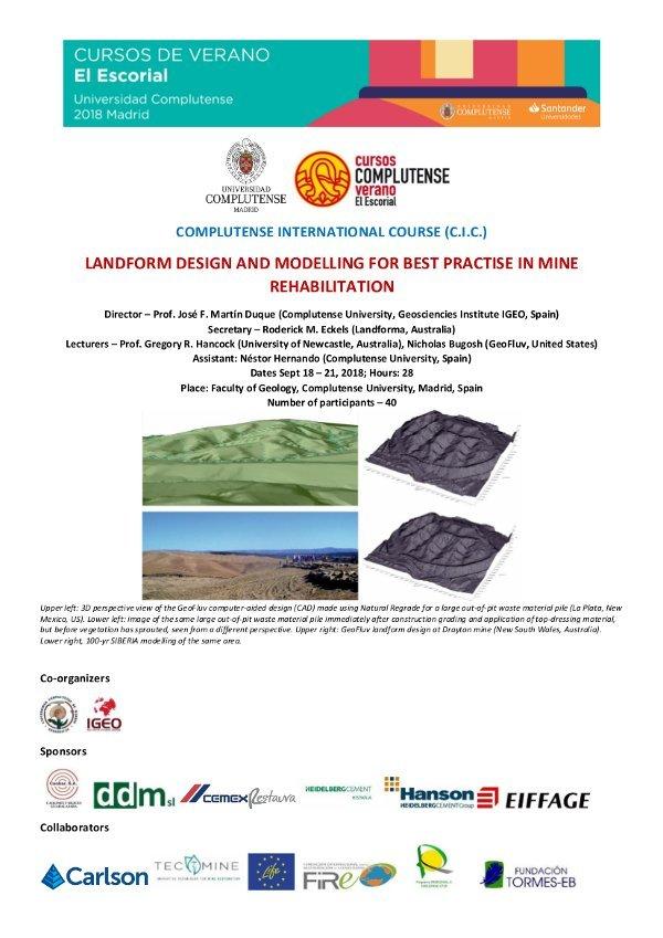 Curso de diseño y modelizacion en restauracion geomorfologica