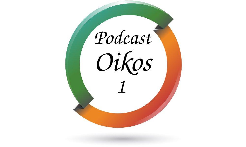 Logo del programa 1 del podcast Oikos.