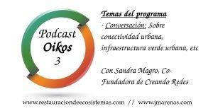 Oikos 3: Programa sobre conectividad e infraestructura verde urbana con Sandra Magro de creando redes