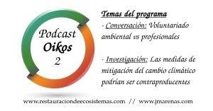 Oikos Programa 2. Voluntariado ambiental y mitigación cambio climático