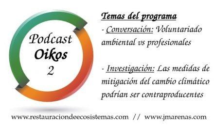 Oikos 2: Voluntariado ambiental y mitigación cambio climático