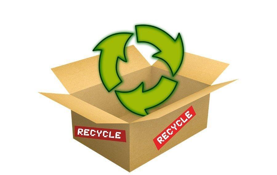 Imagen que ilustra que hay que reciclar las cajas de cartón