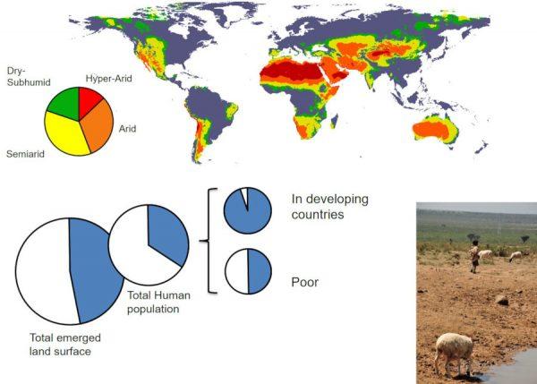 Drylands (zonas áridas y semiáridas) del mundo