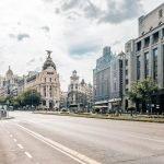 Calles de Madrid solitarias.
